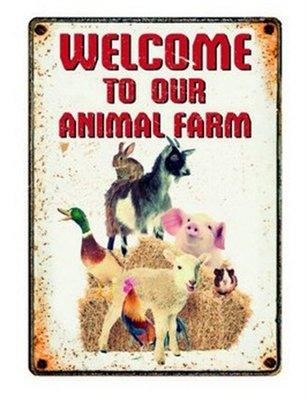 Plenty gifts waakbord blik farm welcome