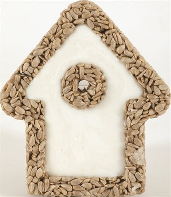 Zolux huisje van vet met gepelde zonnebloempitten